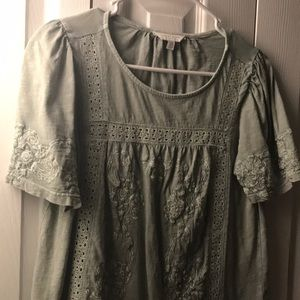 Lucky brand lace detailed shirt